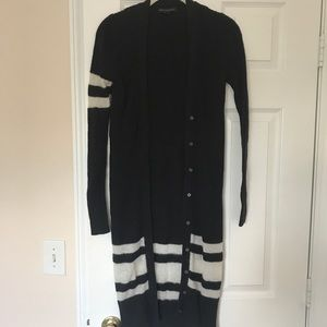 Banana Republic long line striped cardigan